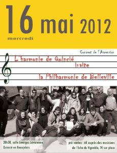 Affiche concert Quincié