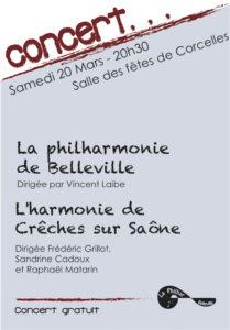 Affiche concert Corcelles 2010