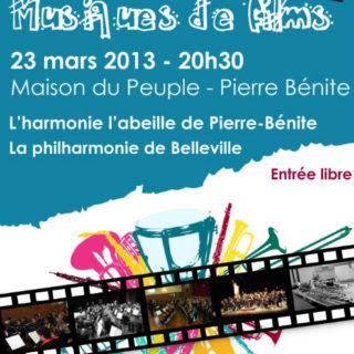 Affiche concert musiques de films