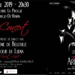 Affiche ciné concert the Artist